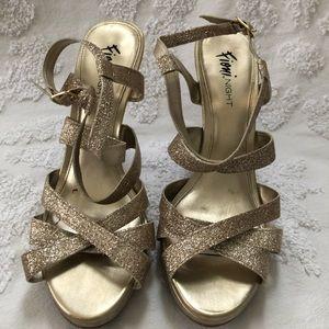 Gold Strappy Heel - Sandals